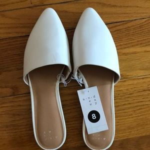 White mules size 8 new